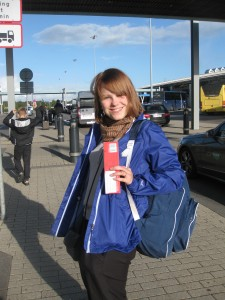 Ditte at Billund Airport